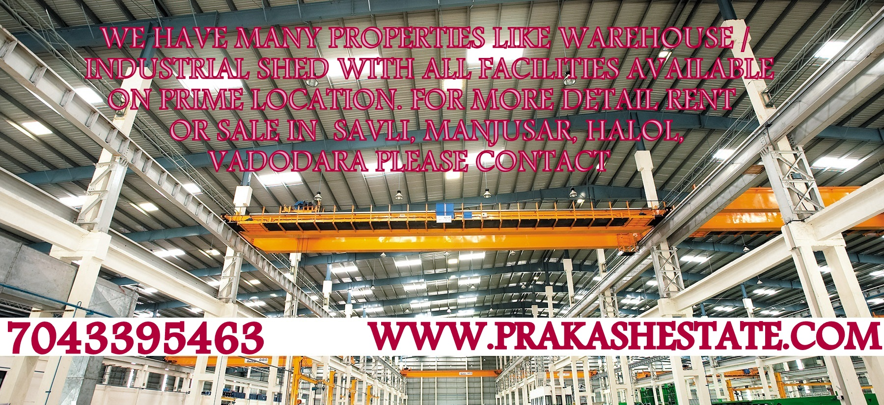 50000 TO 100000 SQ.FT INDUSTRIAL SHED | FACTORY FOR RENT IN BECHARAJI VITHALAPUR MEHSANA – 7043395463